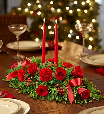 All Red Centerpiece - Click Image to Close