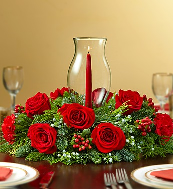 Red Holiday Cheer Centerpiece