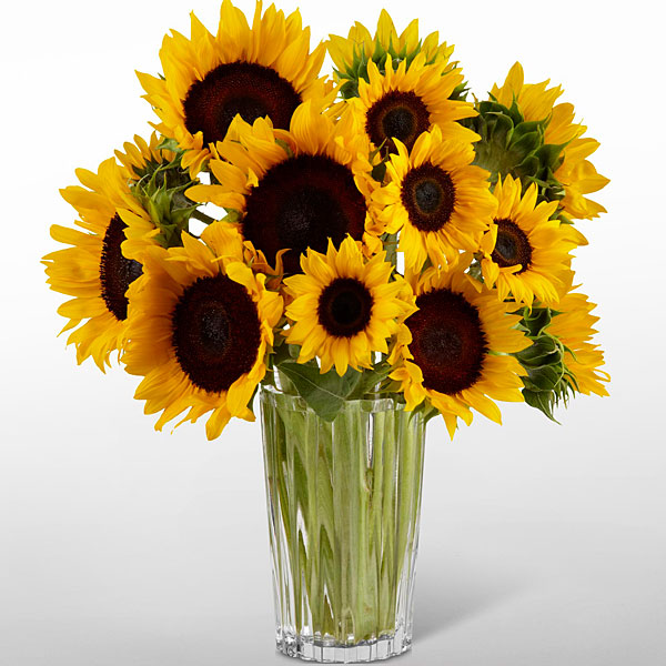 Golden Sunflowers Bouquet