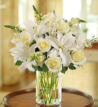 White Sympathy Arrangement - Click Image to Close