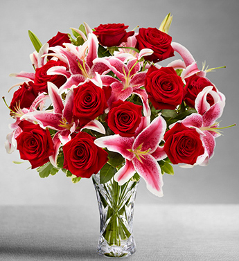 Rose And Lily Bouquet - Click Image to Close