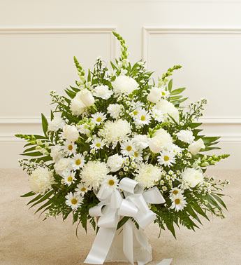 White Sympathy Floor Basket - Click Image to Close