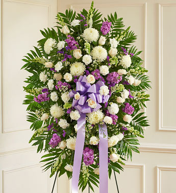 Lavender And White Standing Spray - Click Image to Close