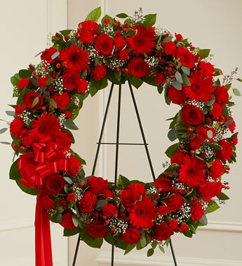 Red Standing Wreath - Click Image to Close