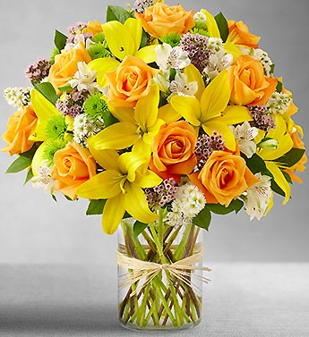 Field of Europe in Cylinder Vase Bouquet - Click Image to Close