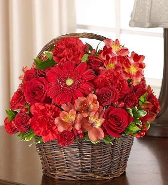 Red Sympathy Basket - Click Image to Close