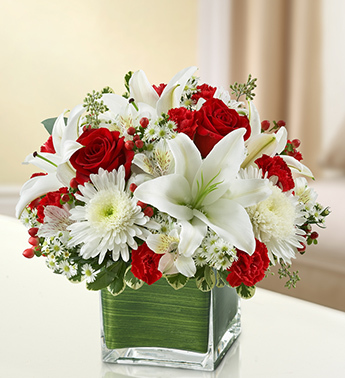 Red and White Healing Tears Bouquet - Click Image to Close