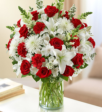 Red and White Sincerest Sorrow Arrangement