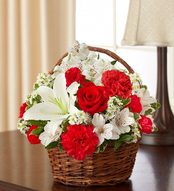 Red & White Blessings Basket - Click Image to Close