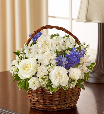 Blue and White Blessings Basket - Click Image to Close