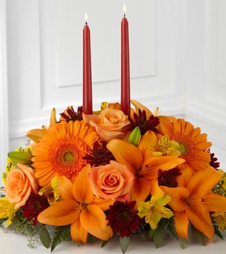 Bright Autumn Centerpiece - Click Image to Close