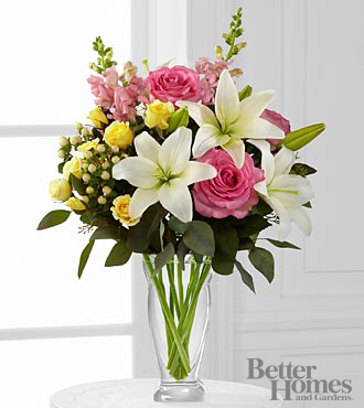 Blooming Rose And Lily Bouquet - Click Image to Close