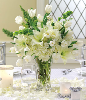 Pearled Passion Centerpiece - Click Image to Close
