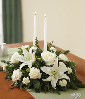 Classic All White Centerpiece - Click Image to Close