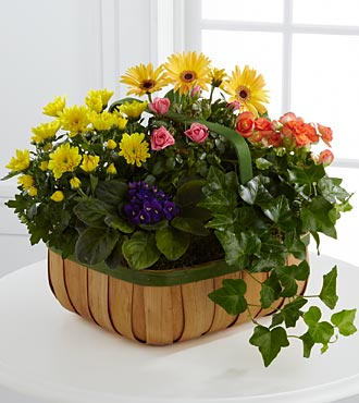 Gentle Blossoms Basket - Click Image to Close