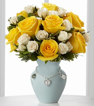 Mother's Charm Rose Bouquet - Boy - Click Image to Close