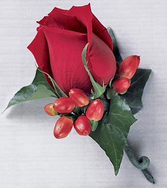 Rose Bloom Boutonniere - Click Image to Close