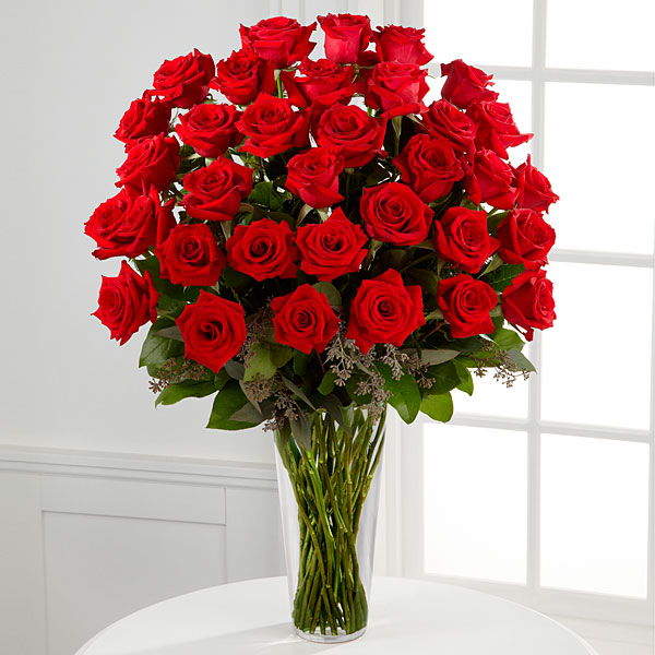 36 Red Roses- 3 Dozen Red Roses Bouquet -