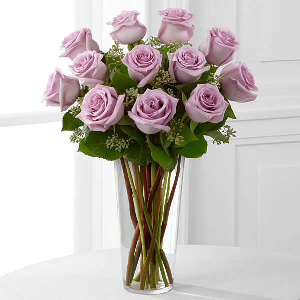 Lavender Rose Bouquet - 1 Dozen