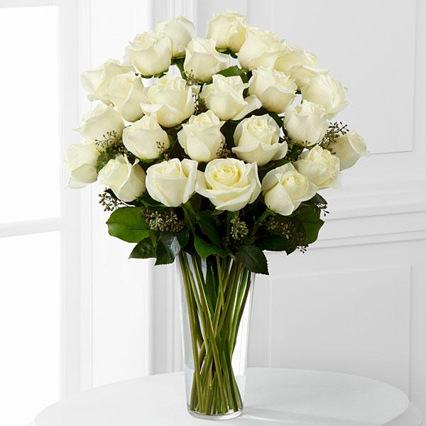 White rose bouquet 2 dozen royal fleur florist larkspur ca 94939 larger image mightylinksfo