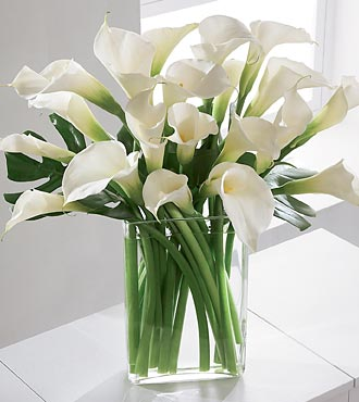 Simplicity Luxury Calla Lily Bouquet - Click Image to Close