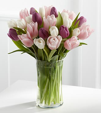 Painted Skies Tulip Bouquet - 20 Tulips - Click Image to Close