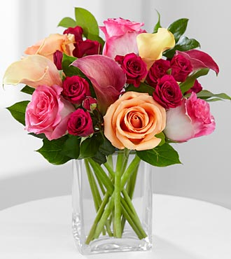 Colors of Love Mixed Bouquet - Click Image to Close