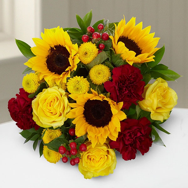 Harvest Celebrations Mixed Fall Hand Tied Bouquet - Click Image to Close