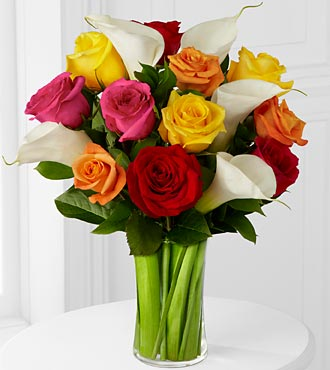 Color Crush Rose & Calla Lily Bouquet - Click Image to Close