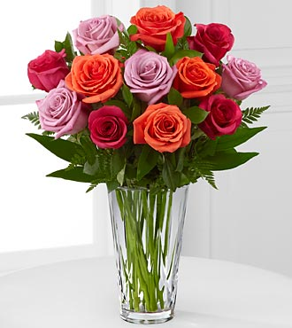 Passion for Color Rose Bouquet - Click Image to Close