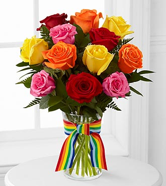 Pick Me Up Rainbow Riches Rose Bouquet - Click Image to Close