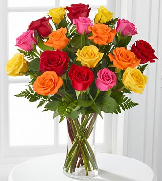 Gratitude's Glow Mixed Rose Bouquet - Click Image to Close