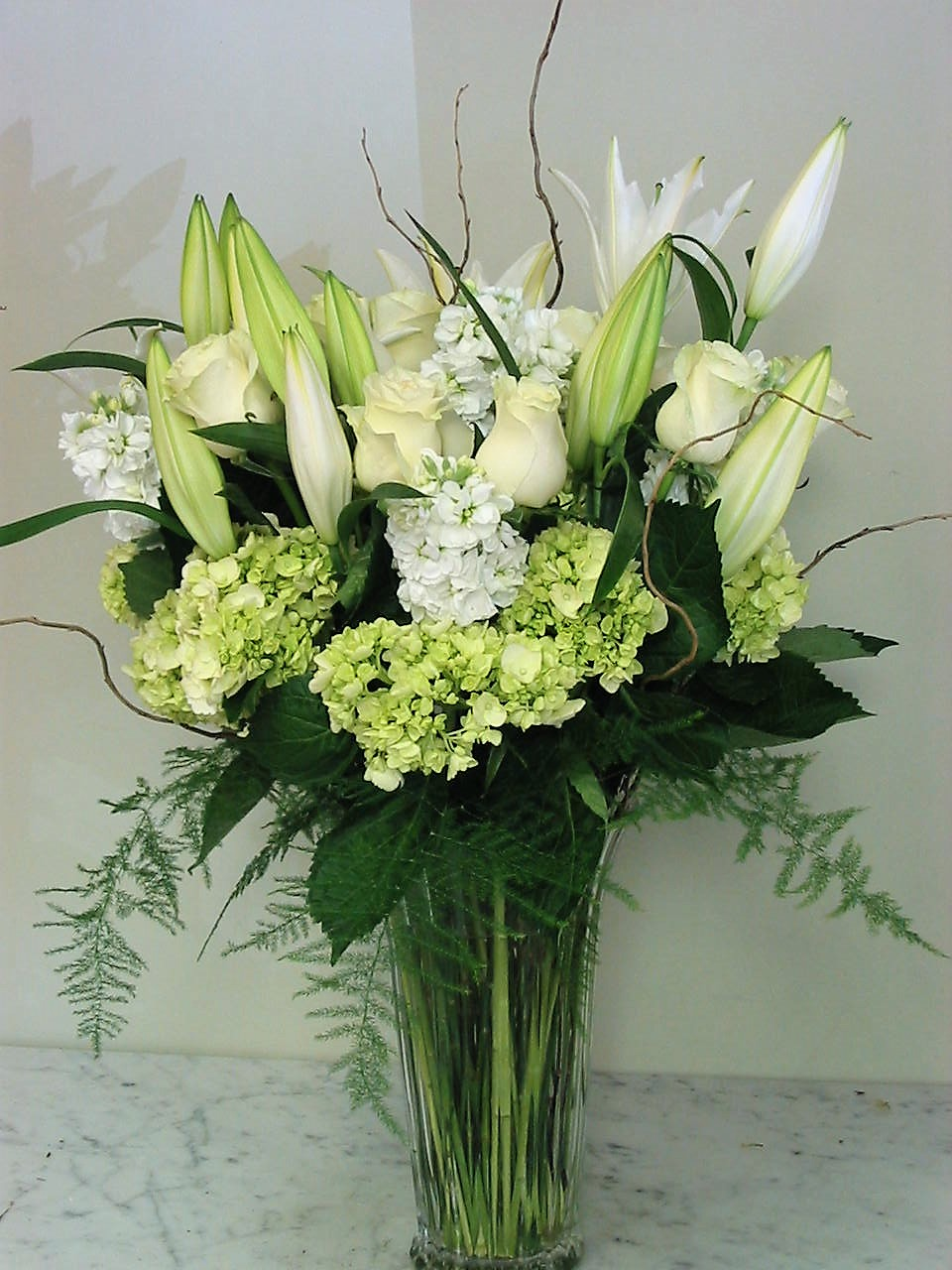 Prestigious White Arrangement