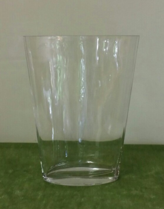 Oval Clear Vase