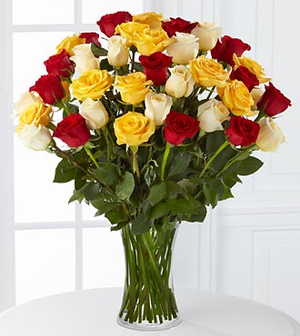 Joyful Luxury Rose Bouquet - 36 Roses