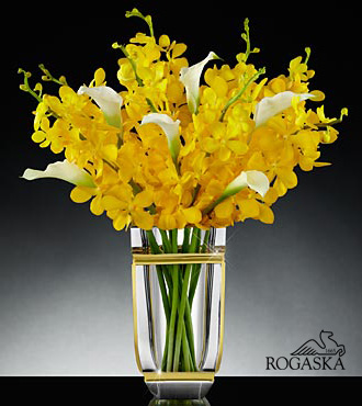 Sunlit Sophisitcation Luxury Orchid And Calla Lily Bouquet - Click Image to Close