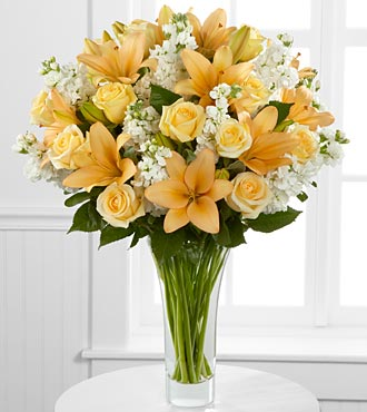 Admiration Luxury Rose And Lily Bouquet - Click Image to Close
