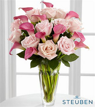 Beauteous Luxury Rose and Calla Lily Bouquet - Click Image to Close