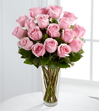 Pink Roses Bouquet - 18 Roses