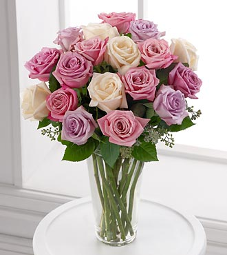 Pastel Rose Bouquet - Click Image to Close