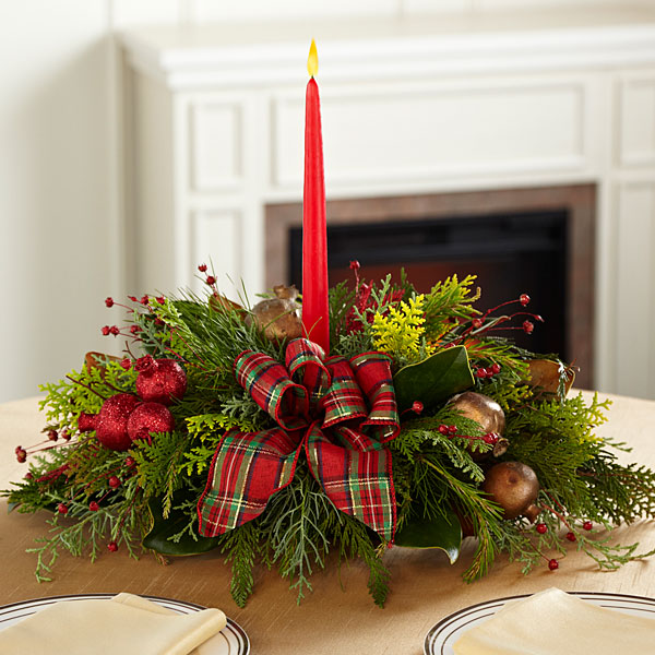 Christmas flower centerpieces delivered
