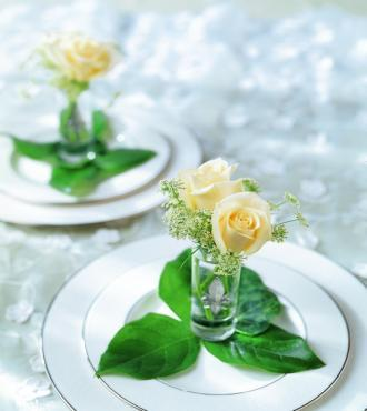 The Rose Charm Table Arrangement - Click Image to Close
