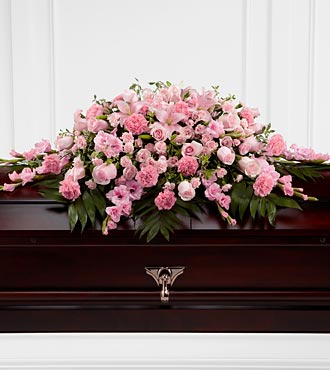 Sweetly Rest Casket Spray - Click Image to Close