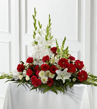 Crimson And White Arrangement - Click Image to Close