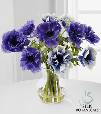 Purple & Blue Anemones