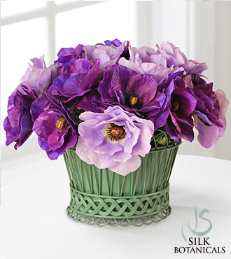 Poppy Anemone Basket - Click Image to Close