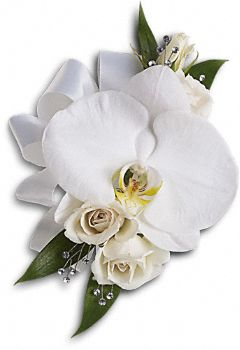 White Orchid And Rose Wrist Corsage