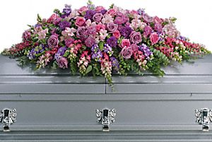 Lavender Tribute Casket Spray - Click Image to Close
