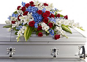 Distinguished Service Casket Spray - Click Image to Close