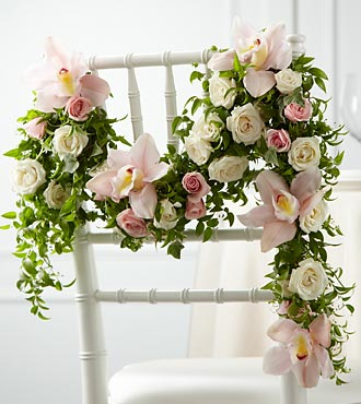 Orchid Rose Chair Decor